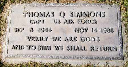 SIMMONS, THOMAS Q. - Maricopa County, Arizona | THOMAS Q. SIMMONS - Arizona Gravestone Photos