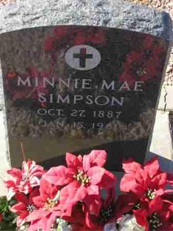 SIMPSON, MINNIE MAE - Maricopa County, Arizona | MINNIE MAE SIMPSON - Arizona Gravestone Photos