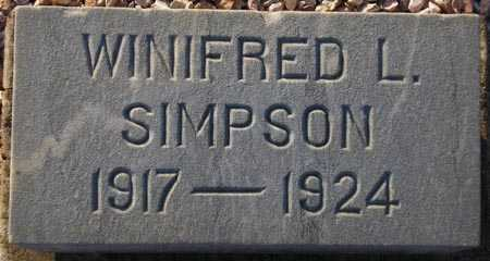 SIMPSON, WINIFRED L. - Maricopa County, Arizona | WINIFRED L. SIMPSON - Arizona Gravestone Photos
