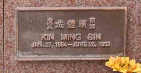 SIN, KIN MING - Maricopa County, Arizona | KIN MING SIN - Arizona Gravestone Photos