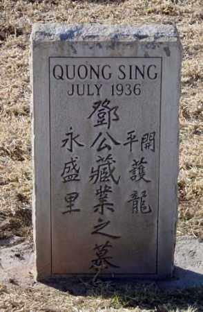 SING, QUONG - Maricopa County, Arizona | QUONG SING - Arizona Gravestone Photos