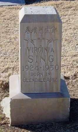 SING, VIRGINIA - Maricopa County, Arizona   VIRGINIA SING - Arizona Gravestone Photos