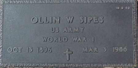 SIPES, OLLIN W. - Maricopa County, Arizona | OLLIN W. SIPES - Arizona Gravestone Photos