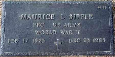 SIPPLE, MAURICE L. - Maricopa County, Arizona | MAURICE L. SIPPLE - Arizona Gravestone Photos