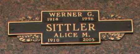 SITTLER, WERNER G - Maricopa County, Arizona   WERNER G SITTLER - Arizona Gravestone Photos