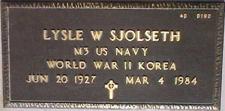 SJOLSETH, LYSLE W. - Maricopa County, Arizona | LYSLE W. SJOLSETH - Arizona Gravestone Photos