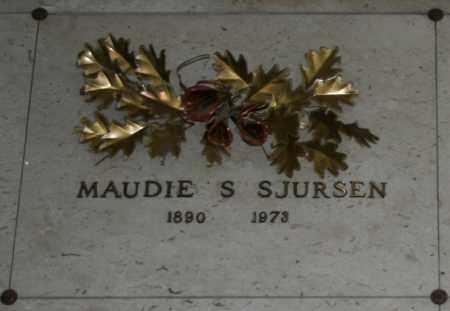 SJURSEN, MAUDIE S - Maricopa County, Arizona | MAUDIE S SJURSEN - Arizona Gravestone Photos