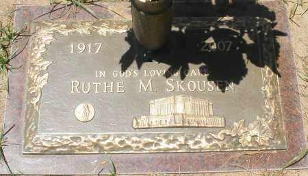 SKOUSEN, RUTHE M. - Maricopa County, Arizona | RUTHE M. SKOUSEN - Arizona Gravestone Photos