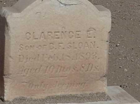 SLOAN, CLARENCE E - Maricopa County, Arizona | CLARENCE E SLOAN - Arizona Gravestone Photos
