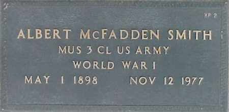 SMITH, ALBERT MCFADDEN - Maricopa County, Arizona   ALBERT MCFADDEN SMITH - Arizona Gravestone Photos
