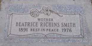 RICHINS SMITH, BEATRICE - Maricopa County, Arizona | BEATRICE RICHINS SMITH - Arizona Gravestone Photos