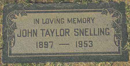 SNELLING, JOHN TAYLOR - Maricopa County, Arizona | JOHN TAYLOR SNELLING - Arizona Gravestone Photos