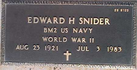 SNIDER, EDWARD H. - Maricopa County, Arizona   EDWARD H. SNIDER - Arizona Gravestone Photos