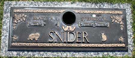 SNIDER, MARY A - Maricopa County, Arizona | MARY A SNIDER - Arizona Gravestone Photos