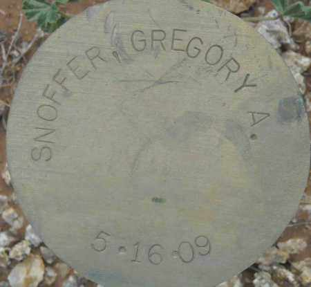 SNOFFER, GREGORY A. - Maricopa County, Arizona | GREGORY A. SNOFFER - Arizona Gravestone Photos