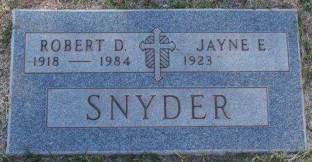 SNYDER, ROBERT D - Maricopa County, Arizona   ROBERT D SNYDER - Arizona Gravestone Photos