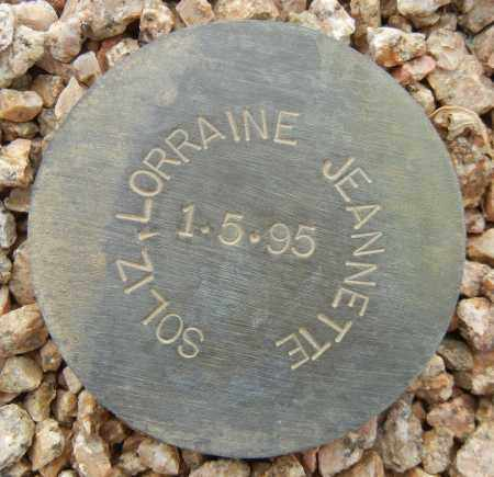 SOLIZ, LORRAINE JEANNETTE - Maricopa County, Arizona | LORRAINE JEANNETTE SOLIZ - Arizona Gravestone Photos