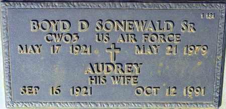 SONEWALD, BOYD D, SR - Maricopa County, Arizona | BOYD D, SR SONEWALD - Arizona Gravestone Photos