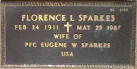 SPARKES, FLORENCE L. - Maricopa County, Arizona | FLORENCE L. SPARKES - Arizona Gravestone Photos