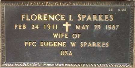 SPARKES, FLORENCE L. - Maricopa County, Arizona   FLORENCE L. SPARKES - Arizona Gravestone Photos