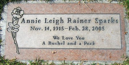 SPARKS, ANNIE LEIGH - Maricopa County, Arizona | ANNIE LEIGH SPARKS - Arizona Gravestone Photos