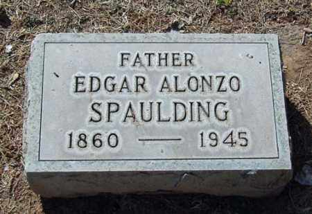 SPAULDING, EDGAR ALONZO - Maricopa County, Arizona | EDGAR ALONZO SPAULDING - Arizona Gravestone Photos