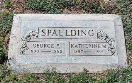SPAULDING, GEORGE F. - Maricopa County, Arizona | GEORGE F. SPAULDING - Arizona Gravestone Photos