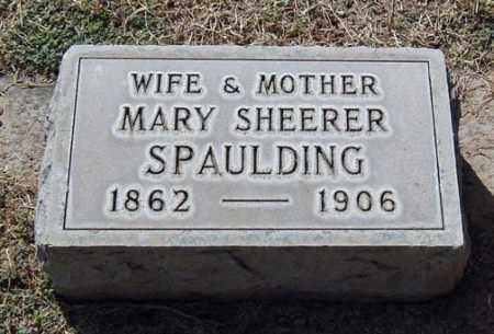 SPAULDING, MARY E. - Maricopa County, Arizona   MARY E. SPAULDING - Arizona Gravestone Photos