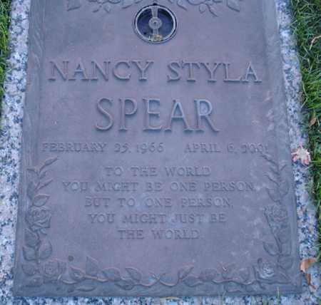 STYLA SPEAR, NANCY - Maricopa County, Arizona | NANCY STYLA SPEAR - Arizona Gravestone Photos