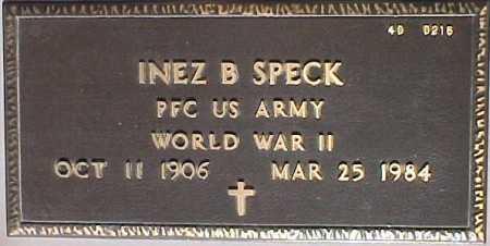 SPECK, INEZ B. - Maricopa County, Arizona | INEZ B. SPECK - Arizona Gravestone Photos
