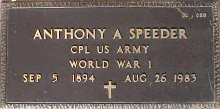 SPEEDER, ANTHONY A. - Maricopa County, Arizona | ANTHONY A. SPEEDER - Arizona Gravestone Photos