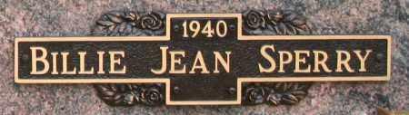 SPERRY, BILLIE JEAN - Maricopa County, Arizona   BILLIE JEAN SPERRY - Arizona Gravestone Photos