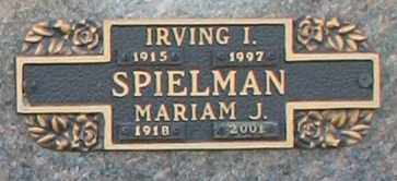 SPIELMAN, IRVING I - Maricopa County, Arizona | IRVING I SPIELMAN - Arizona Gravestone Photos
