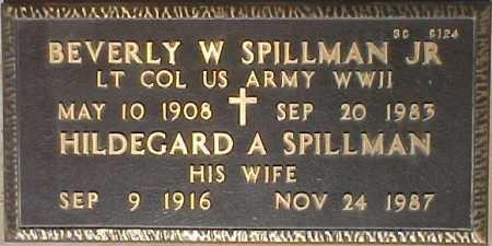 SPILLMAN, HILDEGARD A. - Maricopa County, Arizona   HILDEGARD A. SPILLMAN - Arizona Gravestone Photos