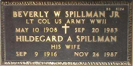 SPILLMAN, BEVERLY W., JR. - Maricopa County, Arizona | BEVERLY W., JR. SPILLMAN - Arizona Gravestone Photos