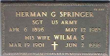 SPRINGER, HERMAN G. - Maricopa County, Arizona   HERMAN G. SPRINGER - Arizona Gravestone Photos