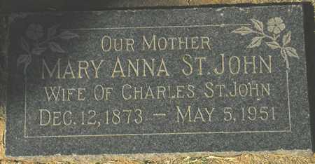 ST JOHN, MARY ANNA - Maricopa County, Arizona | MARY ANNA ST JOHN - Arizona Gravestone Photos