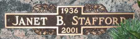 STAFFORD, JANET B - Maricopa County, Arizona | JANET B STAFFORD - Arizona Gravestone Photos
