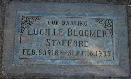 BLOOMER STAFFORD, LUCILLE - Maricopa County, Arizona | LUCILLE BLOOMER STAFFORD - Arizona Gravestone Photos