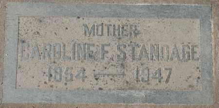 STANDAGE, CAROLINE F - Maricopa County, Arizona | CAROLINE F STANDAGE - Arizona Gravestone Photos