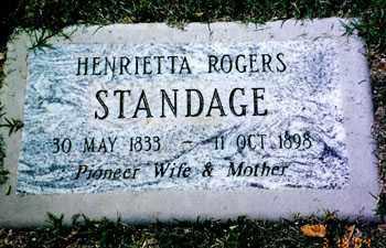 STANDAGE, HENRIETTA - Maricopa County, Arizona | HENRIETTA STANDAGE - Arizona Gravestone Photos