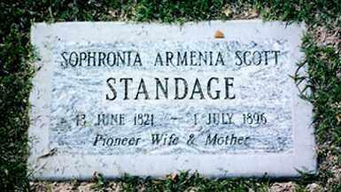 STANDAGE, SOPHRONIA ARMENIA - Maricopa County, Arizona | SOPHRONIA ARMENIA STANDAGE - Arizona Gravestone Photos