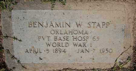 STAPP, BENJAMIN W. - Maricopa County, Arizona | BENJAMIN W. STAPP - Arizona Gravestone Photos
