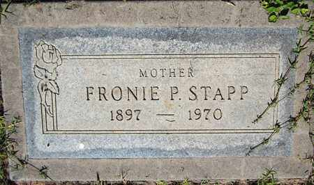 STAPP, FRONIE P. - Maricopa County, Arizona | FRONIE P. STAPP - Arizona Gravestone Photos