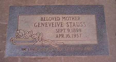 STAUSS, GENEVEIVE - Maricopa County, Arizona   GENEVEIVE STAUSS - Arizona Gravestone Photos