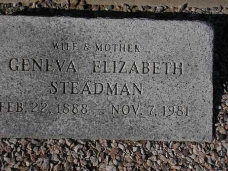 STEADMAN, GENEVA ELIZABETH - Maricopa County, Arizona   GENEVA ELIZABETH STEADMAN - Arizona Gravestone Photos