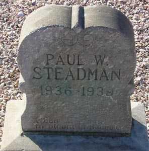 STEADMAN, PAUL W. - Maricopa County, Arizona | PAUL W. STEADMAN - Arizona Gravestone Photos