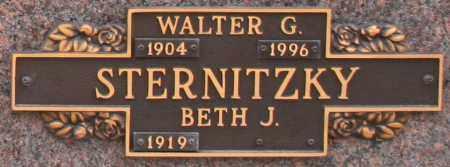 STERNITZKY, WALTER G - Maricopa County, Arizona | WALTER G STERNITZKY - Arizona Gravestone Photos