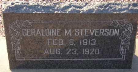 STEVERSON, GERALDINE M. - Maricopa County, Arizona   GERALDINE M. STEVERSON - Arizona Gravestone Photos