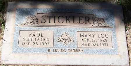STICKLER, MARY LOU - Maricopa County, Arizona | MARY LOU STICKLER - Arizona Gravestone Photos